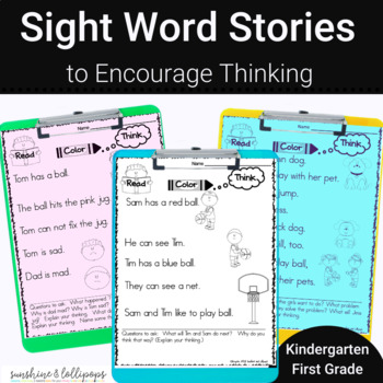 Sight Word Stories to Encourage Thinking Skills Guided Reading