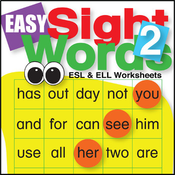 Easy Sight Words 2 Worksheets