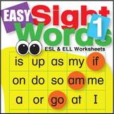Easy Sight Words 1 Worksheets