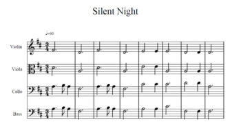 Easy Silent Night Orchestra Strings Arrangement