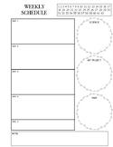 Easy & Simplified Weekly Homeschool Schedule