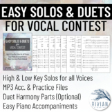 Easy Solos & Duets for Vocal Contest: 10 Songs with High &