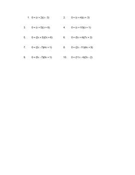 Easy Solving Quadratics