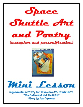 Easy Space Shuttle Art & Poetry Metaphor Personification