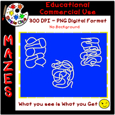 Easy Spaghetti Squiggle Mazes - Set 1 - Commercial Use {Si