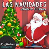 Easy Spanish Christmas Activities x2 matching + story