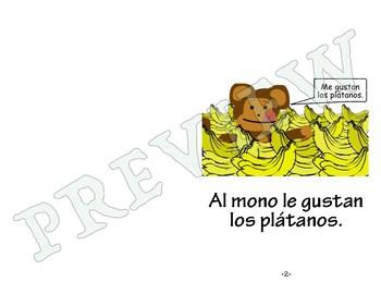 Easy Spanish Reader - Al mono le gustan los plátanos