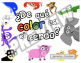 Easy Spanish Reader - ¿De qué color es el cerdo?