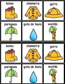 Easy Spanish Reader: Vestirme para la lluvia