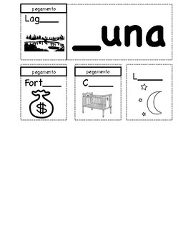 Easy Spanish Word Family Booklets