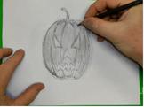 Easy Step By Step Draw A Jack-O-Lantern