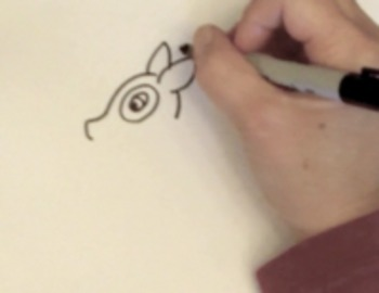 Easy Step by Step Way to Draw a Cartoon Deer