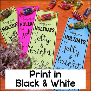 easy student gift jolly bookmarks print or color lastminutegiftsforbigkids