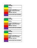 Easy, Editable Student Self Monitoring Classroom Management Plan