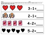 Easy Subtraction Homework with pictures