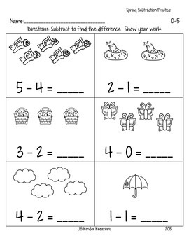 Easy Subtraction Practice