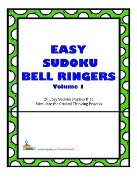 Easy Sudoku Bell Ringers-20 Puzzles to Promote Critical Thinking Skills Vol 1
