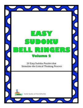 Easy Sudoku Bell Ringers - 20 Easy Puzzles To Stimulate Cr