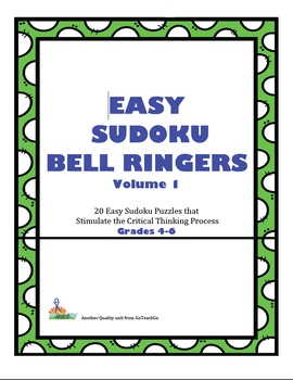 Easy Sudoku Bell Ringers -Vol.1  20 Easy Puzzles To Stimul