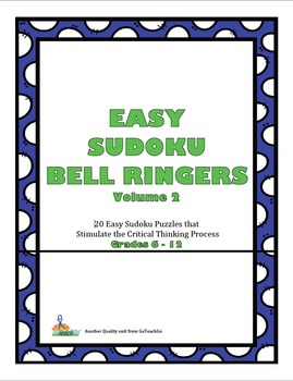 Easy Sudoku Bell Ringers -Vol.2  20 Easy Puzzles To Stimul