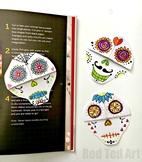 Easy Sugar Skull Corner Bookmark - STEAM Origami Projects