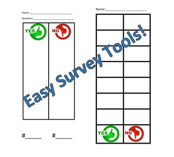 Easy Survey Tally Chart