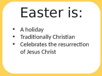 Easy TEFL / TESOL Easter PPT (Including Easter Egg Hunt)