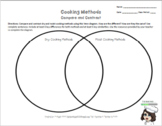 Compare and Contrast Cooking Methods: Venn Diagram