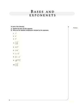 Easy Test Prep: Algebra - Bases and Exponents