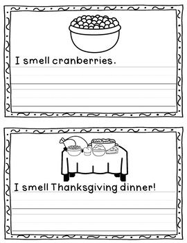 Easy Thanksgiving Readers - Vocabulary Sheets - Response Questions