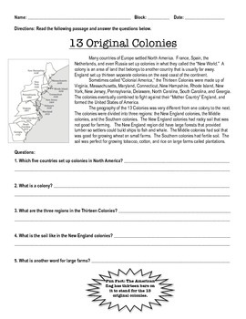 Easy 13 Colonies Summaries