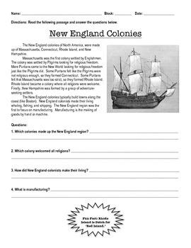 Easy 13 Colonies Summaries