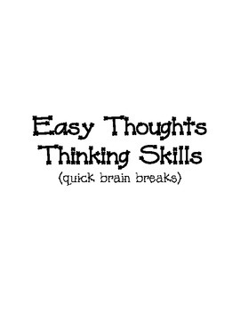 Easy Thoughts Thinking Skills