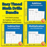 Easy Timed Math Drills {Bundle}