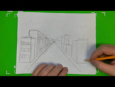 Easy To Draw City Street One Point Perspective Drawing