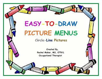 Easy-To-Draw Picture Menu: Circle-Line Drawings