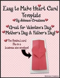 Easy To Make Heart Card Template