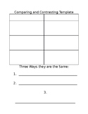 Easy-To-Use Compare and Contrast Graphic Organizer