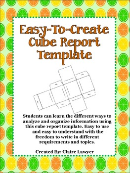 Easy-To-Make Cube Report Template