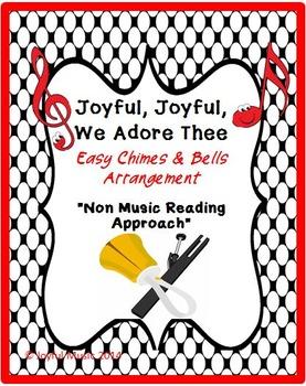 Easy Chimes & Bells Arrangement JOYFUL, JOYFUL, WE ADORE THEE