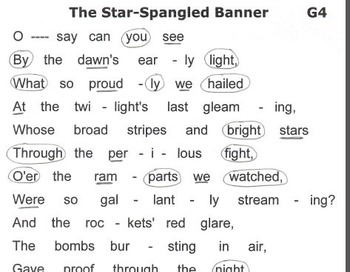 "Easy Tone Chimes or Bells Lesson Plan & ""Music"" THE STAR-SPANGLED BANNER"
