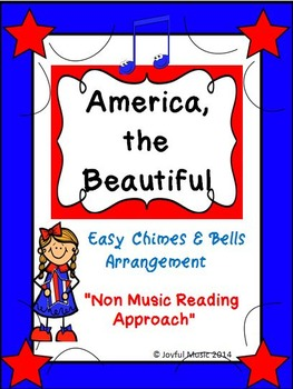 Easy Chimes & Bells Arrangement  AMERICA, THE BEAUTIFUL