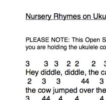 Easy Ukulele Nursery Rhymes on Open Strings
