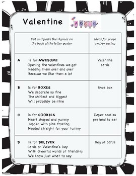 Easy Valentine's Day ABC Play for Early Readers - public school appropriate