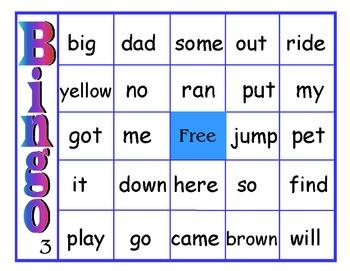 Easy Vocabulary Bingo