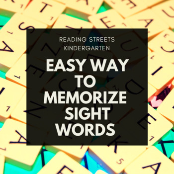 Easy Way to Remember 40 Kinder Sight Words