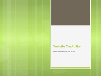 Easy Website Credibility using ABCD
