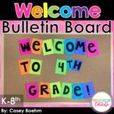 Easy Welcome Bulletin Board