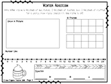 Easy Winter Addition Word Problems within 20 with 3 Addends (1st and 2nd Grade)