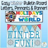 Easy Winter Bulletin Board and Banners